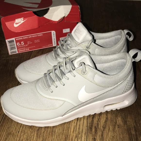 b36b86b69febf Women s Nike Air Max Thea in Pure Platinum White. M 5aacb3e000450f12acc13f41